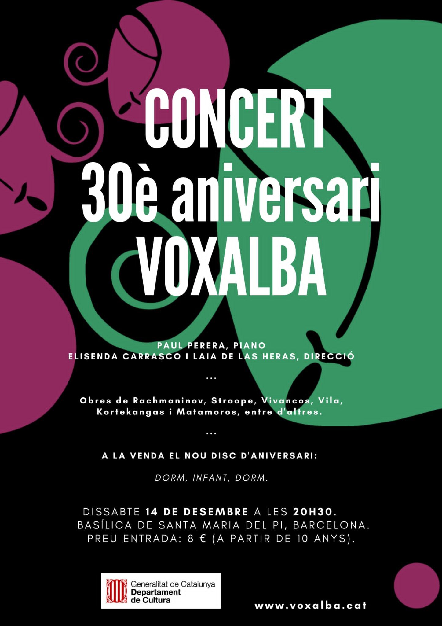 Cartel Concert Voxalba 30e Aniversari
